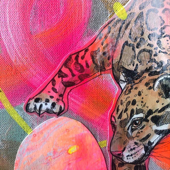 picture of Art-Pink-Acrylic paint-Illustration-Visual arts-Street art-Organism-Painting-Graffiti-53644-155616
