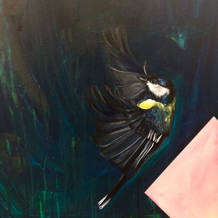 picture of Bird-Beak-Organism-Feather-Wing-Wildlife-Perching bird---1204762086351608