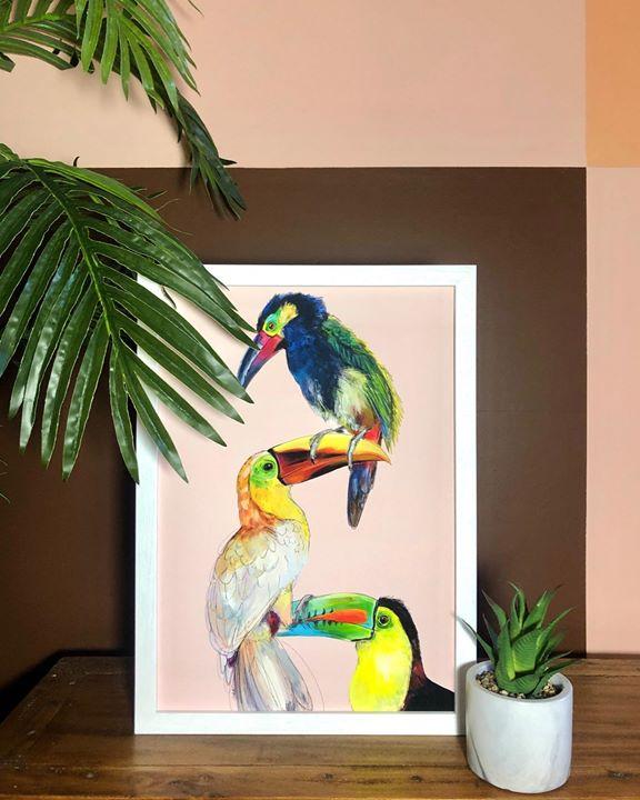 picture of Bird-Parrot-Beak-Room-Feather-Budgie-Plant-Parakeet-Art-24973-61591