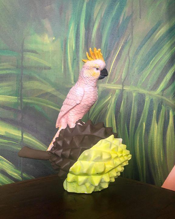picture of Bird-Parrot-Cockatoo-Beak-Cockatiel-Adaptation-Painting-Wing-Sulphur-crested cockatoo-1549728605188286
