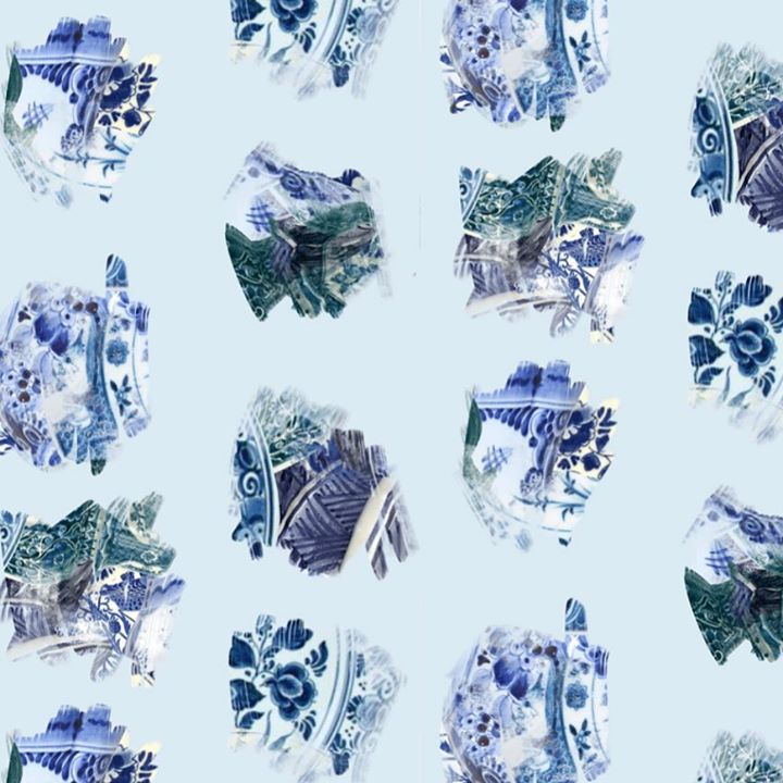 picture of Blue and white porcelain-Blue-Cobalt blue-Porcelain-Design-Font-Pattern-Ice--1213163202178163
