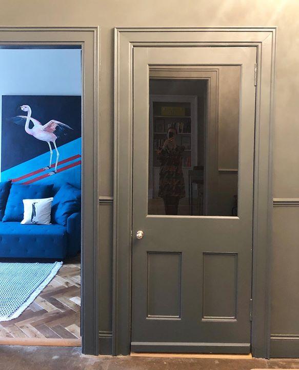 picture of Blue-Door-Room-Home door-Window-Wood-House-Interior design-Door handle-1347834742044341