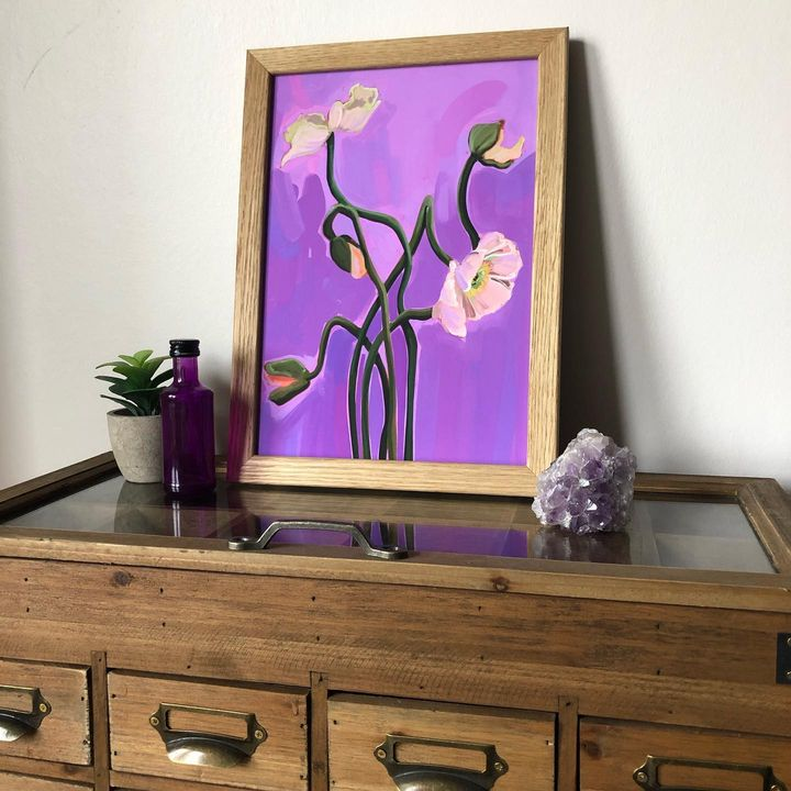 picture of Cabinetry-Picture frame-Plant-Photograph-Furniture-White-Purple-Dresser-Black-1923141434513666