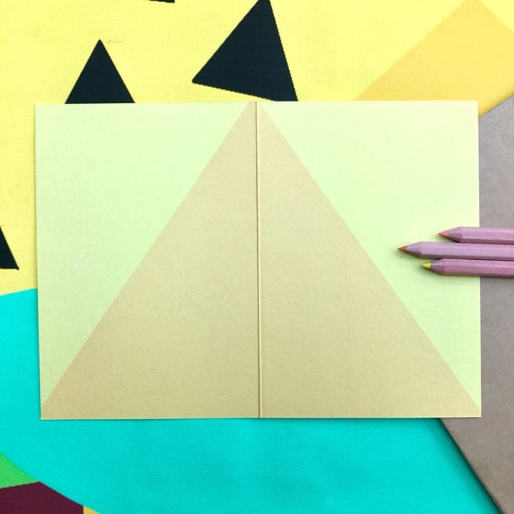 picture of Construction paper-Art paper-Paper-Origami-Triangle-Yellow-Paper product-Art-Craft-32280-41151