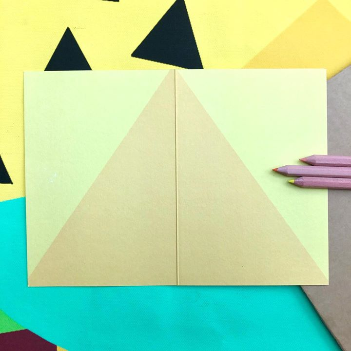 picture of Construction paper-Paper-Origami-Art paper-Yellow-Triangle-Art-Paper product-Craft-37209-41137