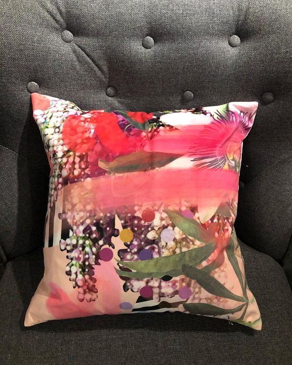 picture of Cushion-Pillow-Throw pillow-Pink-Furniture-Textile-Linens-Magenta-Bedding-1700127573481721