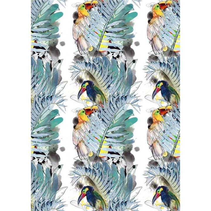 picture of Feather-Bird-Wildlife-Textile-Parrot-Pattern----29320-113736