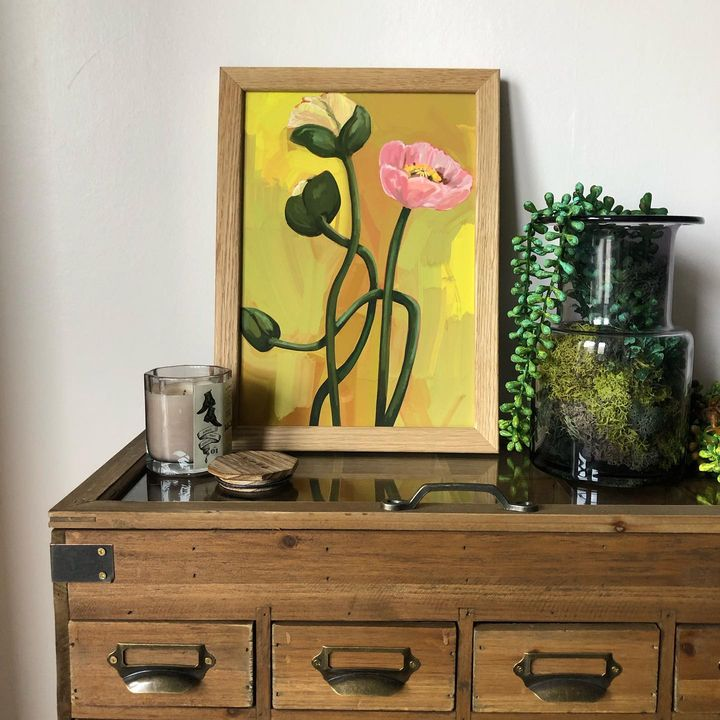 picture of Flower-Plant-Cabinetry-Furniture-Dresser-Rectangle-Drawer-Table-Picture frame-1923141427847000