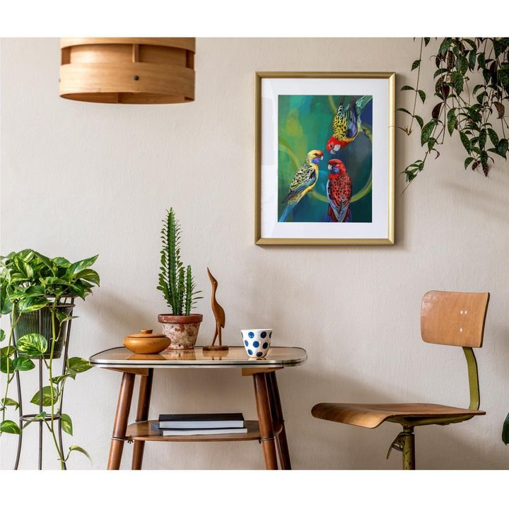 picture of Furniture-Plant-Picture frame-Green-Table-Wood-Interior design-Paint-Rectangle-1817551565072654