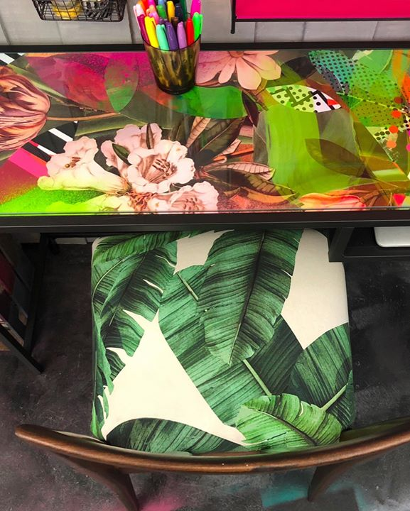 picture of Green-Leaf-Table-Plant-Paper-Art----1492413817586432