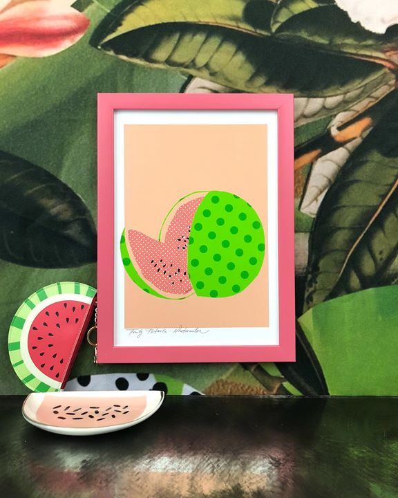 picture of Green-Leaf-Watermelon-Plant-Fruit-Illustration----1497904283704052