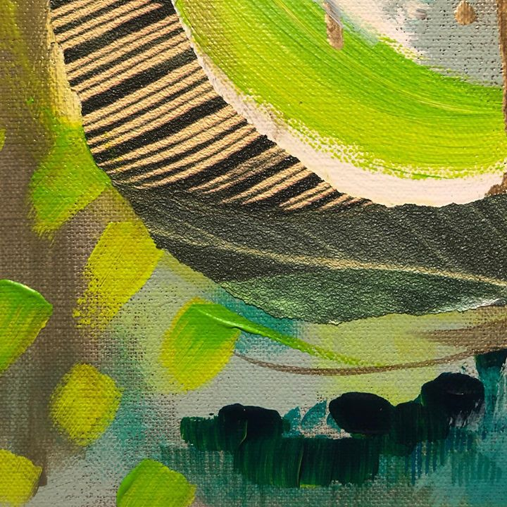 picture of Green-Painting-Yellow-Acrylic paint-Modern art-Art-Watercolor paint-Illustration-Paint-36419-149338