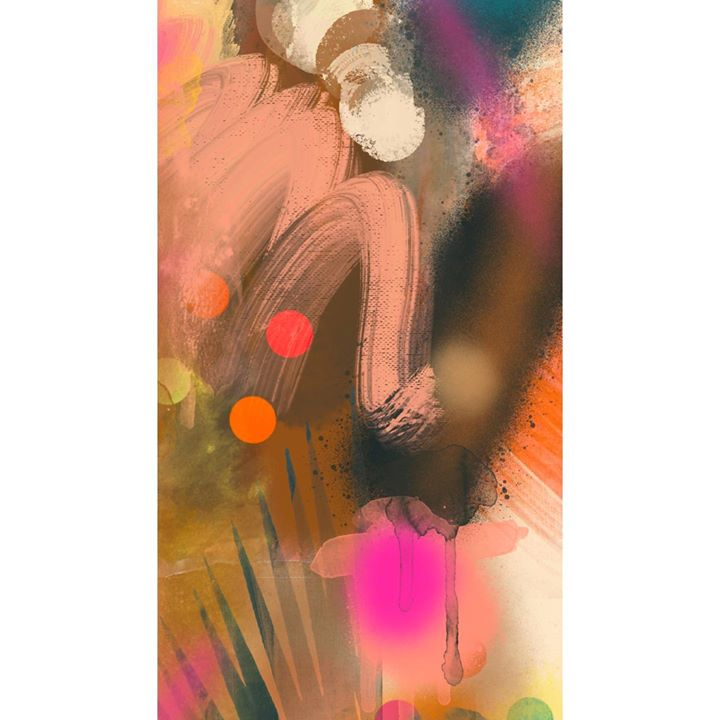 picture of Illustration-Art-Painting-Modern art-Graphic design-Fictional character-Magenta-Watercolor paint-Acrylic paint-1622328174594995