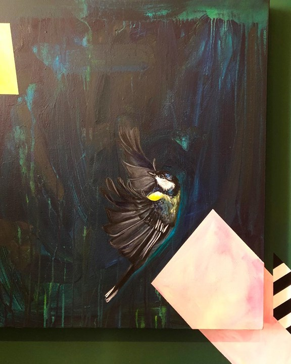 picture of Illustration-Art-Visual arts-Painting-Bird-Chickadee-Graphics---1207643636063453