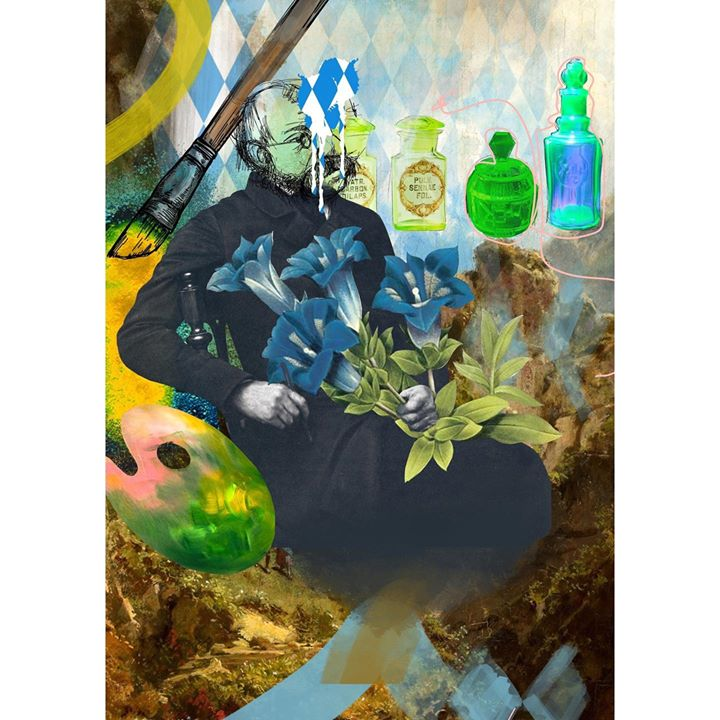 picture of Illustration-Painting-Art-Fictional character-Still life-Visual arts-Water bottle---43252-87715