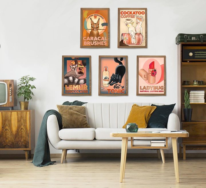 picture of Living room-Furniture-Room-Interior design-Wall-Picture frame-Couch-Table-Modern art-1591192211041925