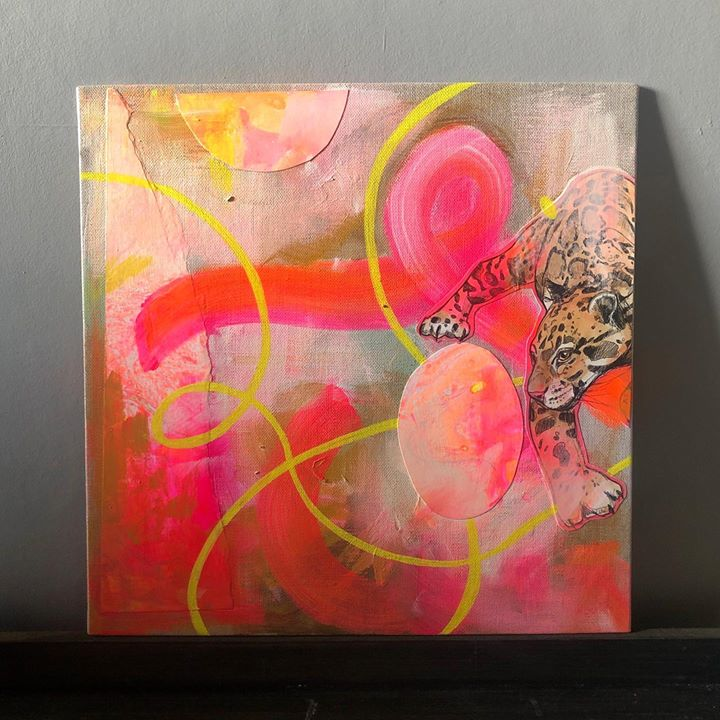 picture of Modern art-Pink-Painting-Art-Acrylic paint-Visual arts-Magenta-Watercolor paint-Paint-53644-89719