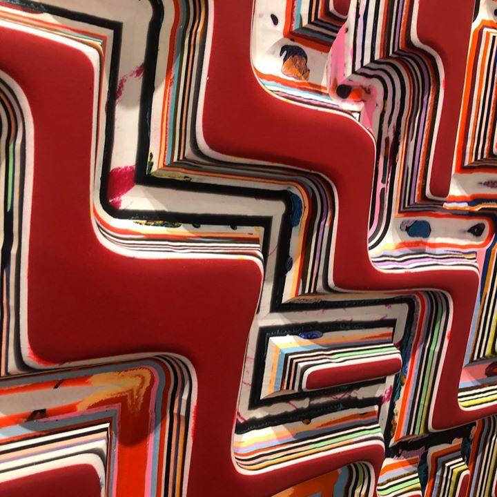 picture of Orange-Pattern-Line-Font-Design-Metal-Wood-Car-Rectangle-61023-102446