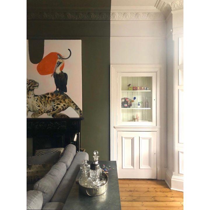 picture of Orange-Room-Interior design-Wall-Furniture-Table-Beige-Door-House-1643999269094552