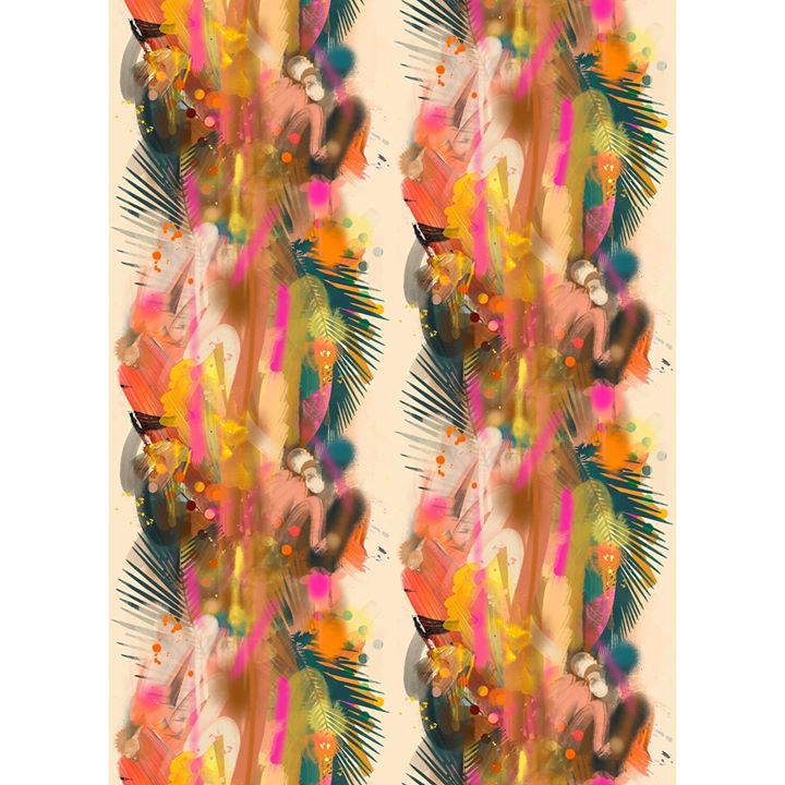 picture of Orange-Textile-Feather-Pattern------1622328097928336