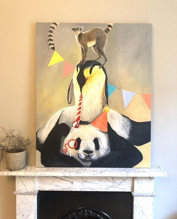 picture of Panda-Painting-Art-Modern art-Visual arts-Still life-Illustration---1347834742044341