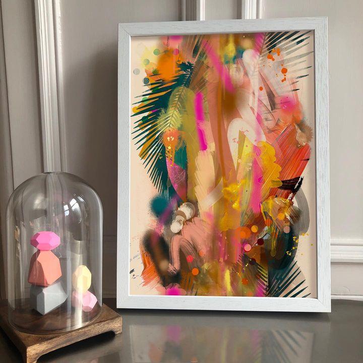 picture of Photograph-Art paint-Paint-Pink-Art-Creative arts-Magenta-Painting-Snapshot-1941690435992099