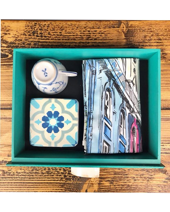 picture of Picture frame-Turquoise-Teal-Rectangle-Turquoise-Tray-Wood-Art-Serving tray-1241022909392192