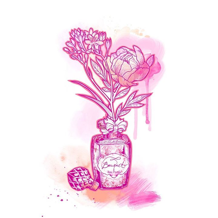 picture of Pink-Flower-Plant-Magenta-Cut flowers-Drawing-Tulip-Illustration--1569984316496048