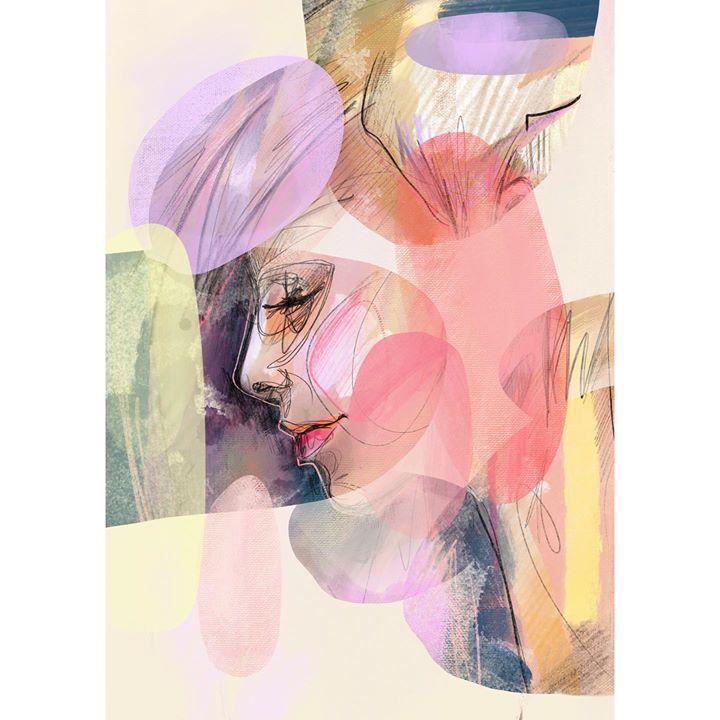 picture of Pink-Illustration-Dress-Stock photography-Art-Fashion illustration-Plant-Magenta-Flower-25299-62456