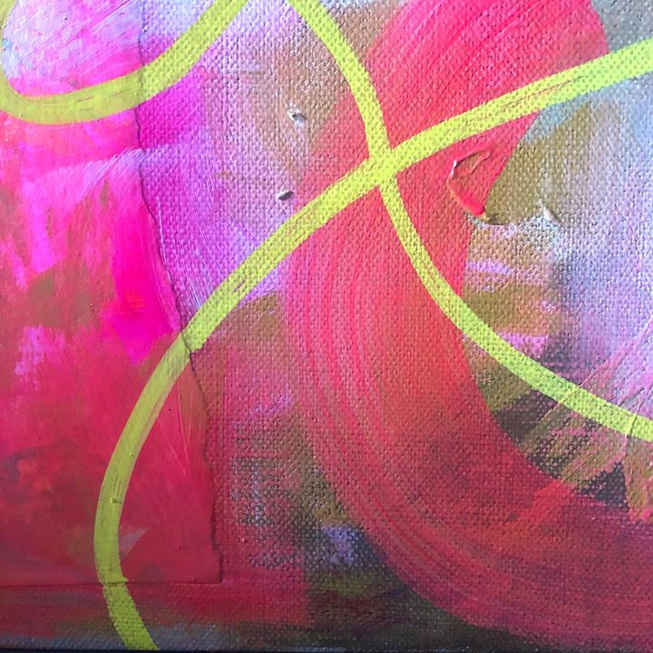 picture of Pink-Magenta-Painting-Modern art-Textile-Art-Acrylic paint-Colorfulness-Visual arts-53644-118809