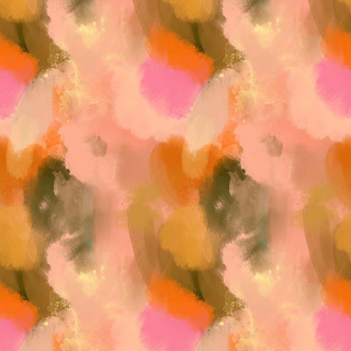 picture of Pink-Orange-Watercolor paint-Peach-Petal-Art----1568600753301071