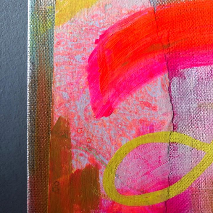 picture of Pink-Red-Painting-Magenta-Modern art-Yellow-Orange-Acrylic paint-Art-53644-109146
