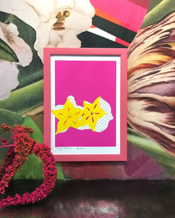 picture of Pink-Yellow-Magenta-Leaf-Flower-Paper-Picture frame-Plant-Room-1497904283704052