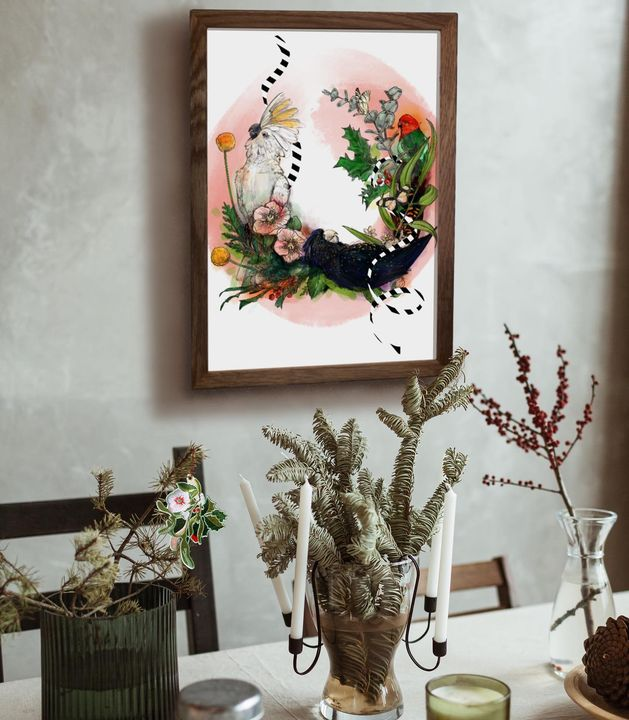 picture of Plant-Picture frame-Flowerpot-Houseplant-Branch-Interior design-Twig-Wood-Terrestrial plant-1787140964780381