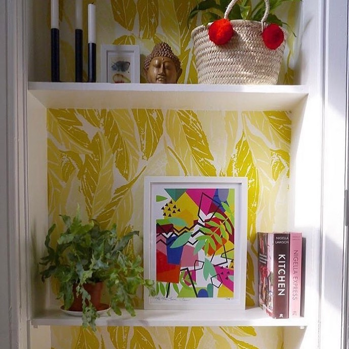 picture of Plant-Product-Green-Textile-Rectangle-Shelf-Interior design-Shelving-Yellow-1846644678830009