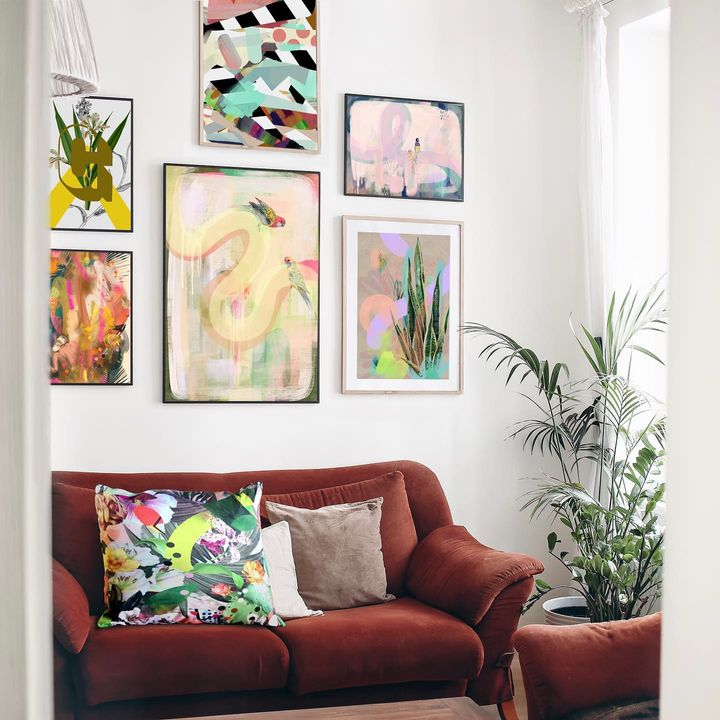 picture of Property-Picture frame-Plant-Green-Product-Interior design-Textile-Yellow-Wood-1841711865989957