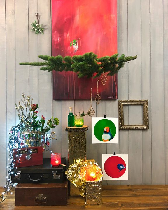 picture of Red-Christmas decoration-Houseplant-Interior design-Floral design-Room-Plant-Home-Floristry-29072-74176