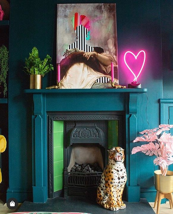 picture of Room-Hearth-Fireplace-Pink-Furniture-Interior design-House-Toy-Fawn-1476381452523002