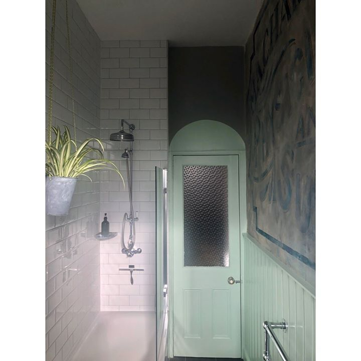 picture of Room-Turquoise-Wall-Door-Architecture-Tile-Material property-Glass-Sconce-1585106474983832