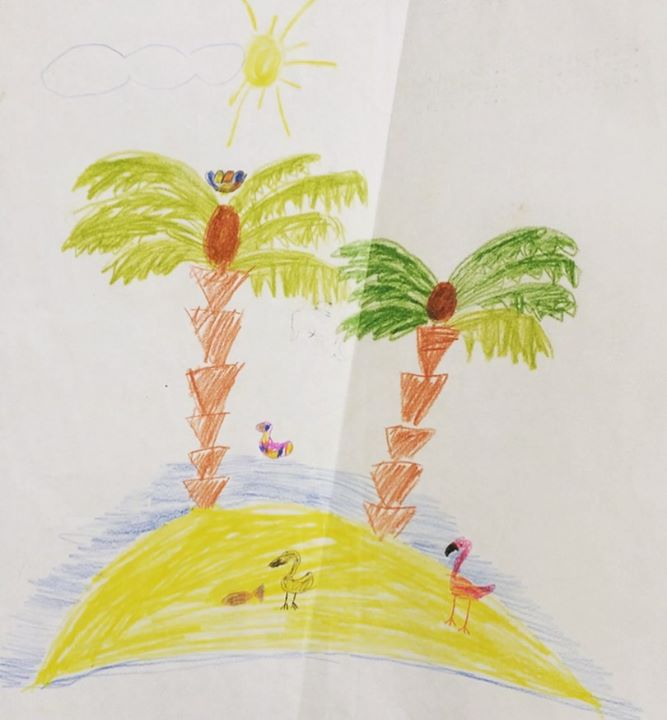picture of Tree-Illustration-Drawing-Botany-Art-Child art-Palm tree-Sketch-Plant-1572590729568740
