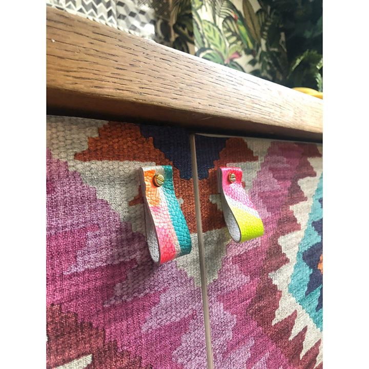 picture of Turquoise-Wood-Wall-Textile-Magenta-Plant-Rectangle---1613901128771033