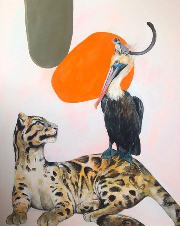 picture of Wildlife-Felidae-Bird-Beak-Art-----1420091614818653